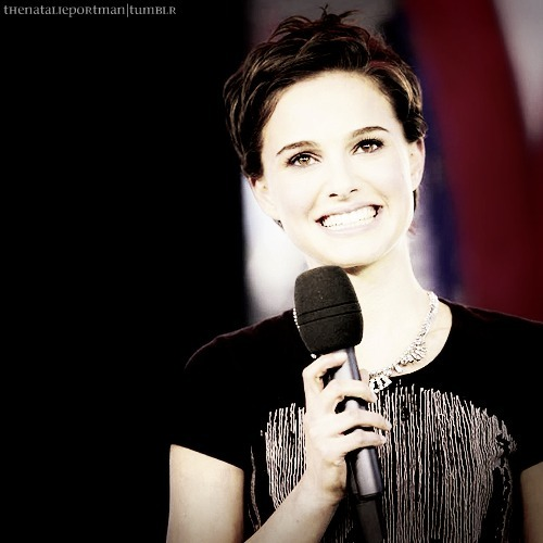actress, beautiful, natalie portman, short hair, smile