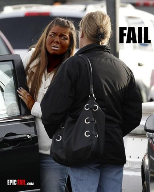 amber, fail, fake bake, fake tan, fat