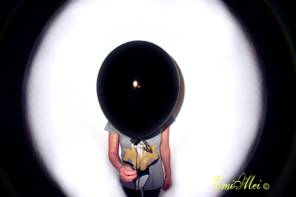 analogic, balloon, black, camera, fisheye, lomo, photography