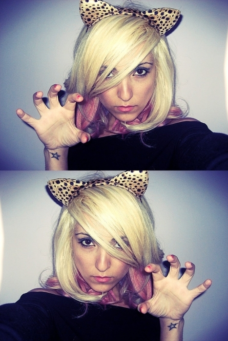 ann wissner, blonde, cute, fashion, girl, hair, leopard, photo, photography, pink, rawr, star
