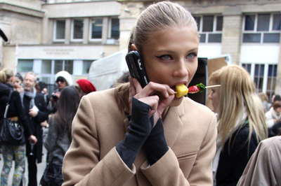 anna selezneva, eating, fashion, girl, model