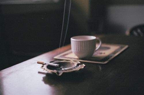 ashes, cigarette, coffee, cup, room