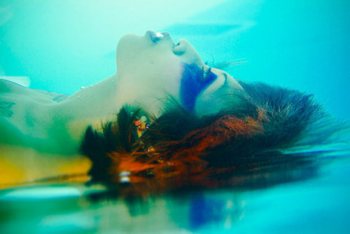asian, beautiful, bubbles, girl, magic, reflection, spirit, swim, swimming, underwater, water