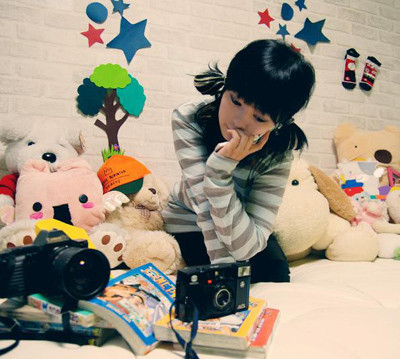 asian, camera, cute, mikki, ulzzang