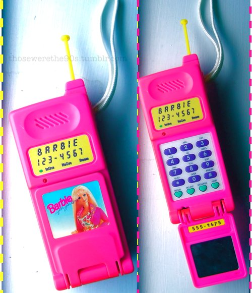 barbie, phone, pink