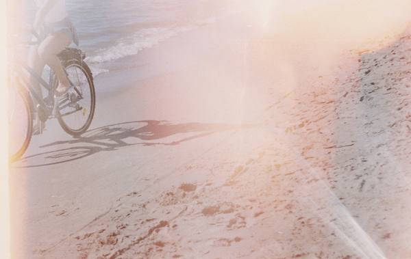 beach, bicycle, sea, seaside, vintage