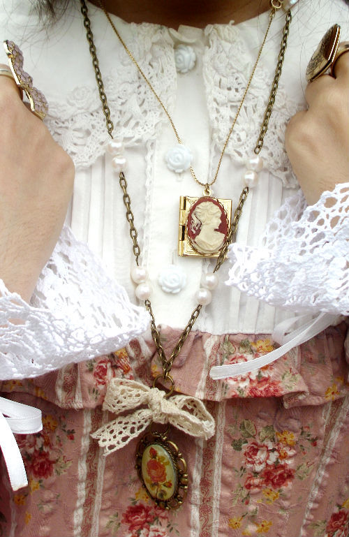 beautiful, bow, cute, details, dress, fashion, girly, lace, love, necklace, pink, pretty, ring, sweet
