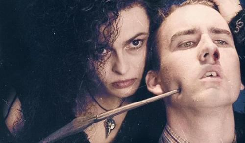 bellatrix lestrange, neville longbottom, the deathly hallows