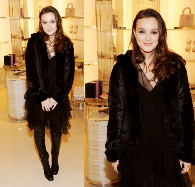 black, blair, fur, gossip girl, leighton