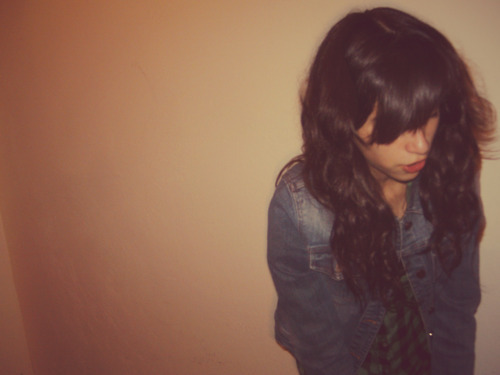 blue, cool, denim, denim jacket, fashion, girl, green, hair, jeans, lips, messed hair, photography, pink, plaid, plain, rose, wall