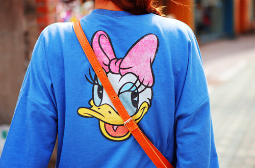blue, daisy, daisy duck, disney, fashion