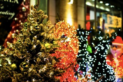 blur, bright, christmas, festive, lights