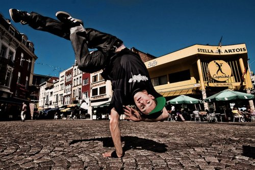 boy, break dance, handstand