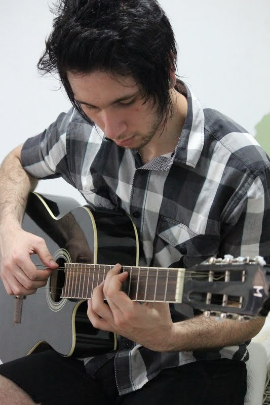 camisa, checked shirt, guitar, pelino, xadrez