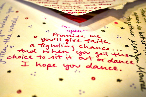 card, doodles, quote, red, words