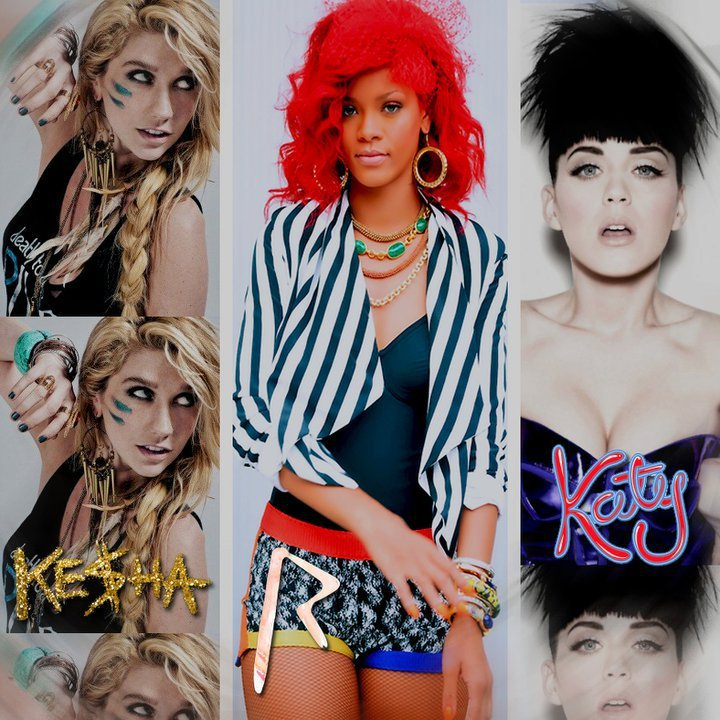 christmas, katy perry, ke$ha, rihanna