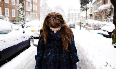 cold, girl, snow, winter