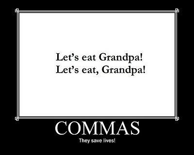commas, funny, grandpa, lol