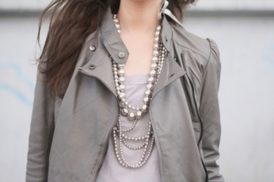 fashion, girl, necklaces, pearls