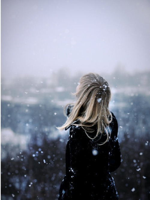 girl, snow, winter