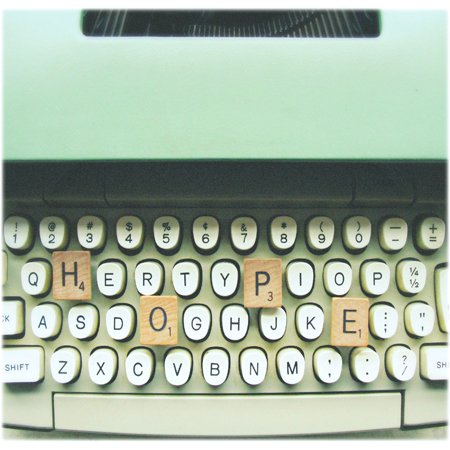 hope, keyboard, letters, scrabble, typewriter, vintage