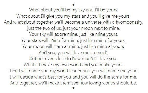 love, mine, sky, stars, universe, world, writing, you, yours