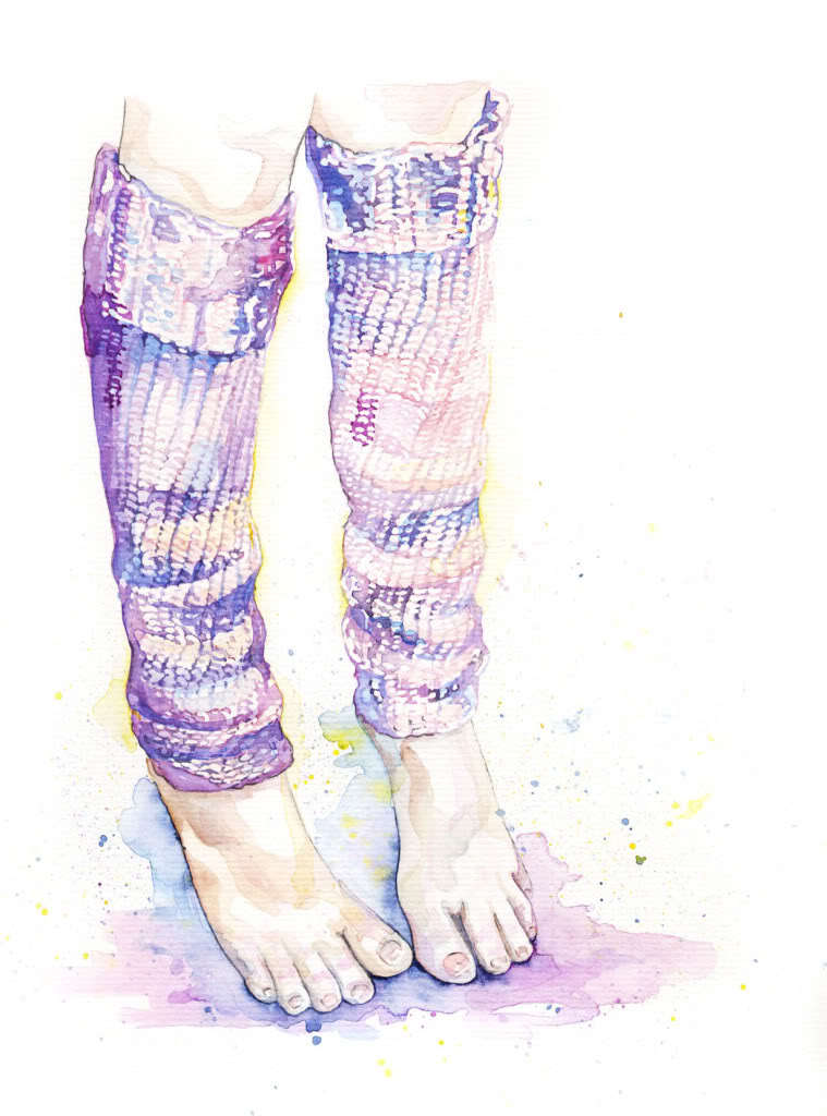 art, feet, illustration, legwarmers, painting