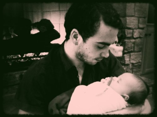 baby, black and white, cute, love, luckiest baby ever!