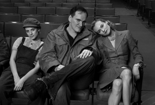 black and white, diane kruger, inglourious basterds, melanie laurent, quentin tarantino