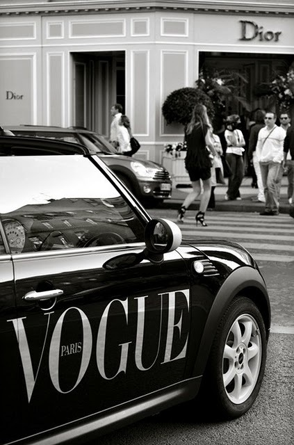 black, black and white, bmw, car, dior, fashion, mini cooper, paris, photography, style, vogue