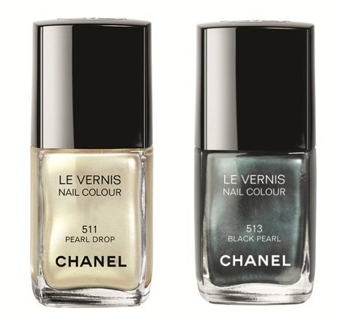 black pearl, chanel, colors, feminine, girly, nail polish, pearl drop, pretty