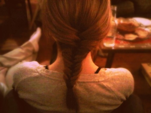 blonde, braid, brunette, cute, fishtail
