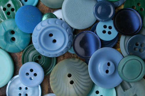 blue, buttons, collection