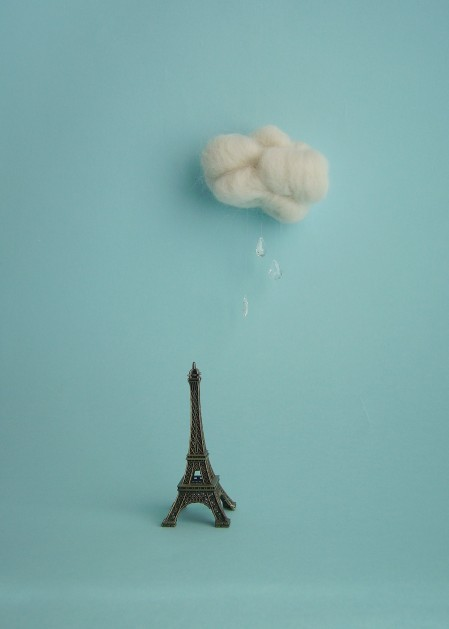 blue, cloud, eiffel tower, paris, rain