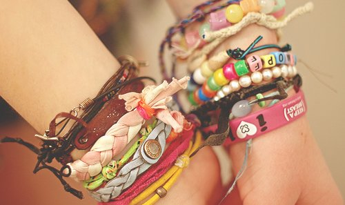 bracelets, colors, heart