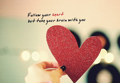 brain, follow, follow your heart, heart, phrase