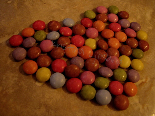 brown, candy, floor, girlsnight, green, hart, heart, kristina ljosland, night, orange, pink, purple, red, smarties, yellow