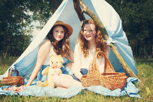 camp, fashion, ginger, girl, nature