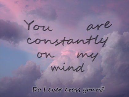 clouds, constantly, cute, love, mind