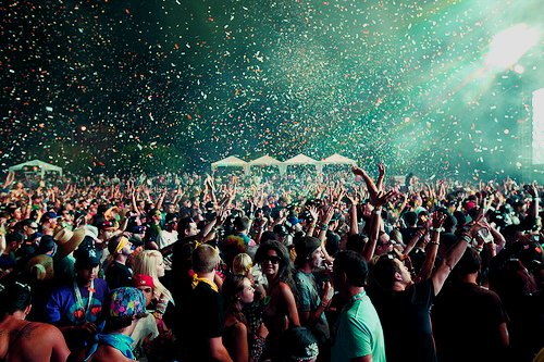 confeti, confetti, crowd, party