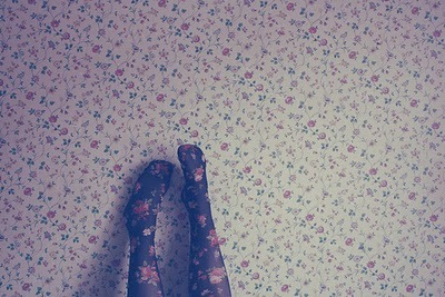 flowers, girly, legs, wall