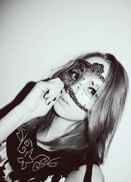 girl, mask, masquerade