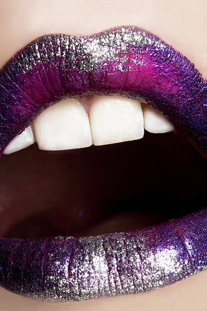 glitter, lips, lipstick, purple