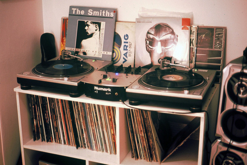 music, record player, records, the smiths, vintage