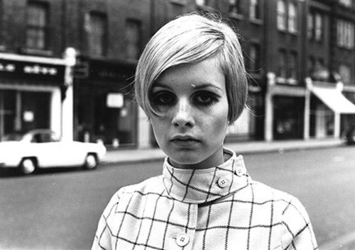 1960s, black and white, model, secret twin, skinny, thin, twiggy
