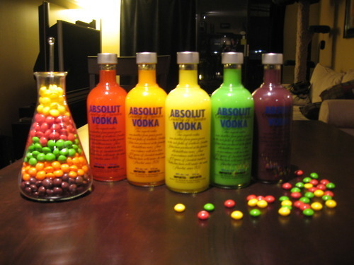 absolut, alcohol, candy, drink, drunk, liquor, party, skittles, vodka, wasted
