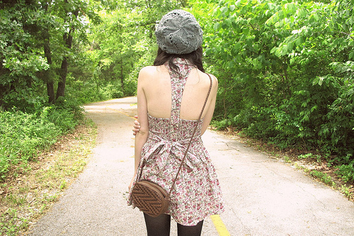 accessories, bag, fashion, floral, girl