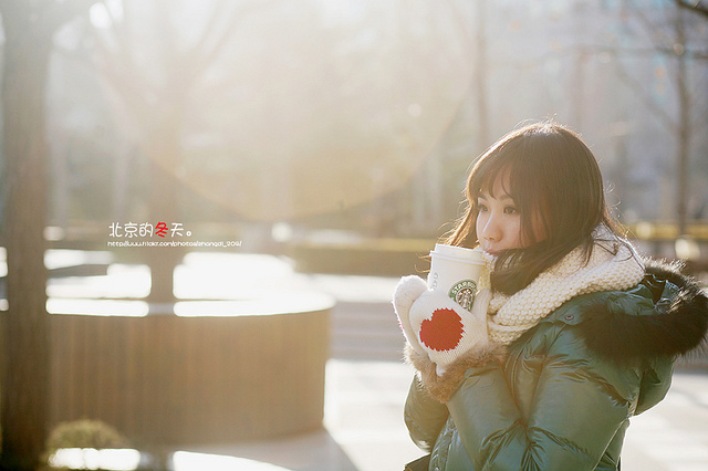 adorable, beautiful, coat, coffee, cold day