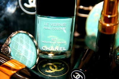 aqua, chanel, coco, green, le vernis