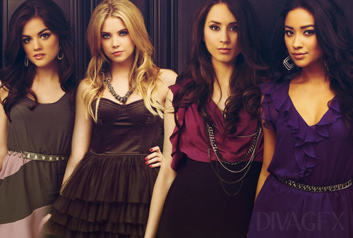 aria, ashley benson, emily, hanna, lucy hale